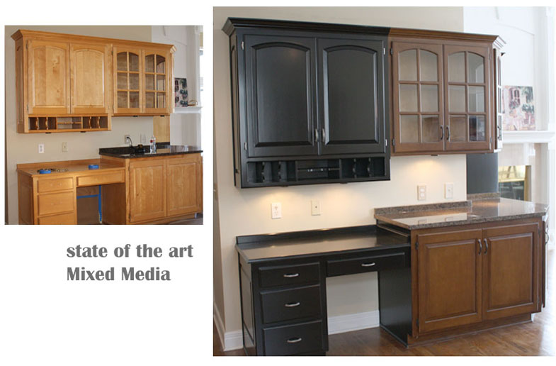 Painted Kitchen Cabinets Vs Stained state of the art - a painting company - custom cabinet finishes