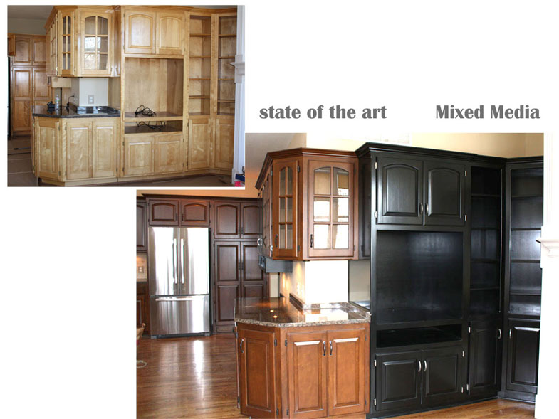 State Of The Art A Painting Company Custom Cabinet Finishes  sc 1 st  o2 Pilates & Stained Or Painted Cabinets | o2 Pilates